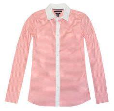 best - Tommy Hilfiger Women Horizontal Stripe Stretch Shirt (L, Coral/White) Tommy Hilfiger http://www.amazon.com/dp/B00JG62QNI/ref=cm_sw_r_pi_dp_o9.Itb1JCE8S0MZW
