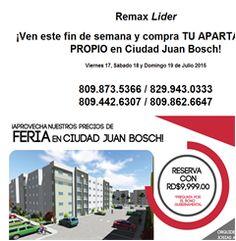 ¡Ven este fin de semana y compra TU APARTAMENTO PROPIO en Ciudad Juan Bosch!  - Publicidad