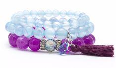 Wristbands & Bracelets – Set bracelets stone jade marble – a unique product by Blackif on DaWanda