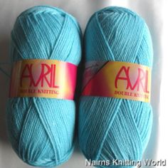 Turquoise  Avril Double Knitting Yarn £1.70 per 100 gram Ball or £8 for 5 balls Plus P&P.