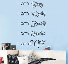 I am Me Wall Decal to celebrate #WomensDay read more http://crazysexycool.co.za/womens-day