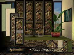 Faux Stones Panel by emerald at TSR
