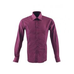 Guide London LS71259 Men's Shirt Purple Small From Ace Collection