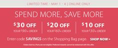 Today is the last day of the $10 off of your $30 purchase  Stock up and save!! No party attendance required .  GO TO Partylite.biz/candleladydana  to order !!! $20 off your $60 order  or $30 off your $90 order