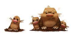 Tagged with Pokemon; Few Pokemon Artworks Pokemon Fan Art, Pokemon Stuff, Cute Illustration, Character Illustration, Pokemon Especial, Beast Creature, Animal Puns, Taupe, Cute Creatures