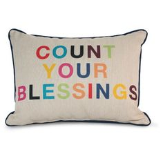 9 by Novogratz Count Your Blessings Decorative Pillow:   This just went on my Christmas wish list!!!