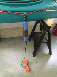 DIY Anchor & Float. 40' of line on a Necky Touring Kayak