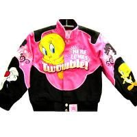 Classic looney tunes leather jacket