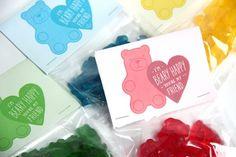 valentines for kids gummy bear bag topper
