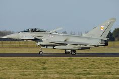 Royal Air Force Eurofighter Typhoon FGR4 ZK334-FB - 1(F)Sqn 'RAZOR31' – Aborted take off. - RAF Coningsby Airbrake