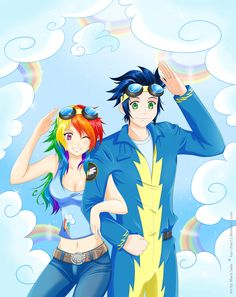 Humanized Rainbowdash and Soarin #MLP_FiM #My_little_pony_friendship_is_magic