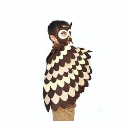 Kids Owl Costume, Children Bird Wings and Mask, Dress up Toy, Owl Disguise,  Girls and Boys, Toddlers