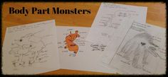 Debbie's Spanish Learning: Monster Drawings {Learning Body Parts}