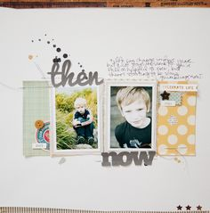 simple layout- I've never done stitching on my pages but this makes me want to give it a shot
