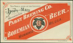 Pabst Brewing Co. Bohemian Beer