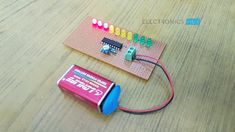 This is a simple battery charge level indicator circuit and is very useful to calibrate inverter status, to measure car battery level, etc. Gold Map, Diy Tech, Circuit Design, Circuit Diagram, Diy Electronics, Circuits, Arduino, Programming, Usb Flash Drive