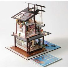 Cool gadgets cool gadgets in 2019 house design, tiny house d Miniature Rooms, Miniature Houses, Miniature Crafts, Diy Dollhouse, Dollhouse Furniture, Dollhouse Miniatures, 3d Home, Home Art, Sims House