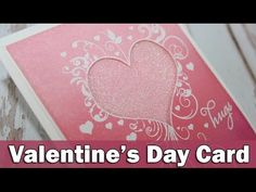 Step by step video on creating a Valentine's Day card http://www.clips-n-cuts.com/?p=6375&preview=true ——— S U P P L I E S ——— • Penny Black Clear Stamps LOV...