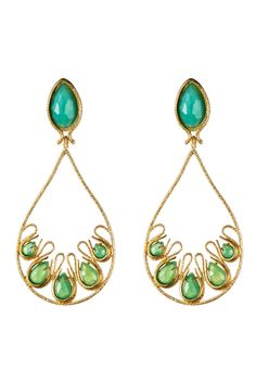 spring 2014 jewelry Alexis Bittar . Green, turquoise and gold