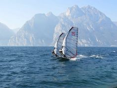 Windsurfing on Lake Garda.
