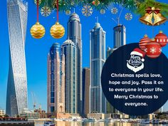 IDubaiVisa wishes you all a very Merry Christmas...... Dubai Tourism, Tourist Places, Very Merry Christmas, Apply Online, United Arab Emirates, About Uk, How To Apply, City, Merry Little Christmas