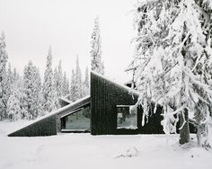 Architect Håkon Matre Aasarød, partner at Oslo-based studio Vardehaugen Architects, led the design of Cabin Vindheim, situated deep in the forest in the alpine landscape near Lillehammer, Norway.