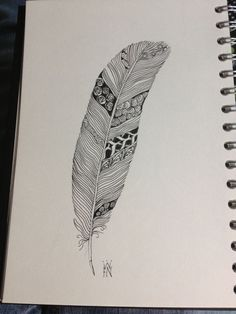 liking the zentangle feathers