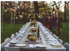 Outdoor garden party.  The mix and match china and mason jars are a perfect touch.