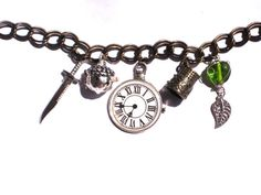 Peter Pan Steampunk Inspired Neverland Charm Bracelet by JJewlery, $16.00