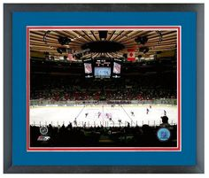 """Madison Square Garden Home of the NY Rangers-11 """"x14"""" Framed/Matted Arena Photo"""
