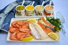 Four simple sauces for fish and seafood.