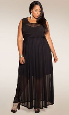 Paris maxi dress -awesome for any size - add funky shoe