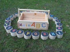 Holzspiel -  Alphabet ( MEIN A B C ) von  Outdoorspieler auf DaWanda.com