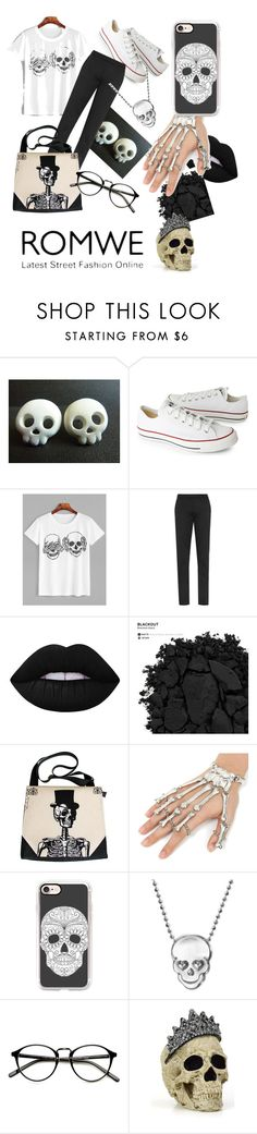 """""""#SkullContest"""" by queenlamyaa ❤ liked on Polyvore featuring Converse, Lime Crime, Urban Decay, Casetify and Alex Woo"""