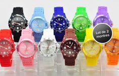 Ces montres en silicone sont sur tous les poignets ! Profitez-vite d'un lot de 2 modèles, parmi 11 coloris au choix, pour 14,99€ au lieu de 39,80€, soit 62% de remise !