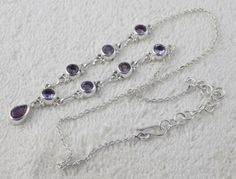 Natural Purple Amethyst 6x9mm-6mm Pear and Round Normal Cut 925 Sterling Silver #RaAgarw