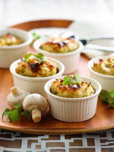 Soufflé van aardappelen en champignons