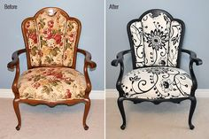 Love this re-do, someday I will do this...well, some else is going to upholsterer.