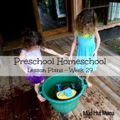 Preschool Homeschool Lesson Plans - Week 29 - Mud Hut Mama