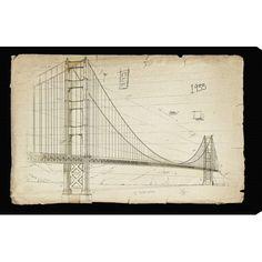 Golden Gate Bridge Canvas Print, Oliver Gal  at Joss and Main