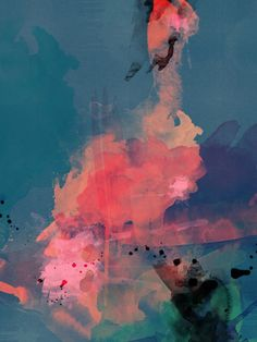 deep reef :  abstract art by Lindsay Blamey