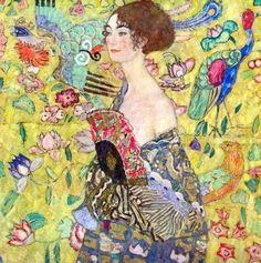 Gustav Klimt - La dame à l'éventail (1917-1918)