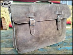Small Leather Portfolio / Laptop Bag  in Texas Brown  by DiazBags, $140.00