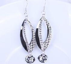 $5.17 65x14mm 925 Sterling Silver Jewelry Ddangle Hook Earrings Eardrop