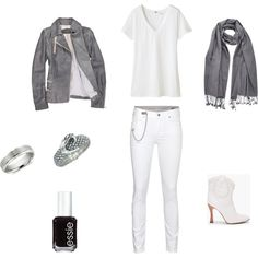 """A look inspired by Adam Lambert's performance of """"Mad World"""" on American Idol - http://www.instyle.com/instyle/package/general/photos/0,,20164507_20264631_20605845,00.html - An all white and grey look."""