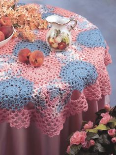 Crochet tablecloth - free pattern