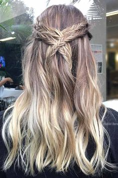 Ombre Hair Ideas Trending Today: From Natural Brown And Blonde Ombre Hair To Fairy-Like Contrasts ★ Hair Color 2017, Ombre Hair Color, Pretty Hairstyles, Braided Hairstyles, Hc Hair, Blond Ombre, Hair Creations, Dreads, Hairstyle Ideas