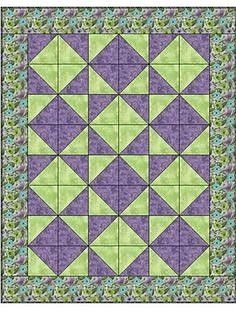 With this 3 yard quilt pattern, you simply take one-yard cuts of fabric plus a few hours and make a beautiful quilt top with binding and borders. Includes an assembly diagram and step-by-step directions that make this 46 x inch quilt. Patchwork Quilt, Lap Quilts, Crochet Quilt, Small Quilts, Quilt Top, Scrappy Quilts, Quilt Baby, Quilt Block Patterns, Quilt Blocks