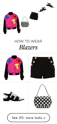 """""""but. moschino chic. Bomber jacket and black shorts."""" by kohlanndesigns on Polyvore featuring Boutique Moschino"""