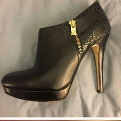 Michael kors high heels booties Excellent condition,  these are the York booties Michael Kors Shoes Ankle Boots & Booties